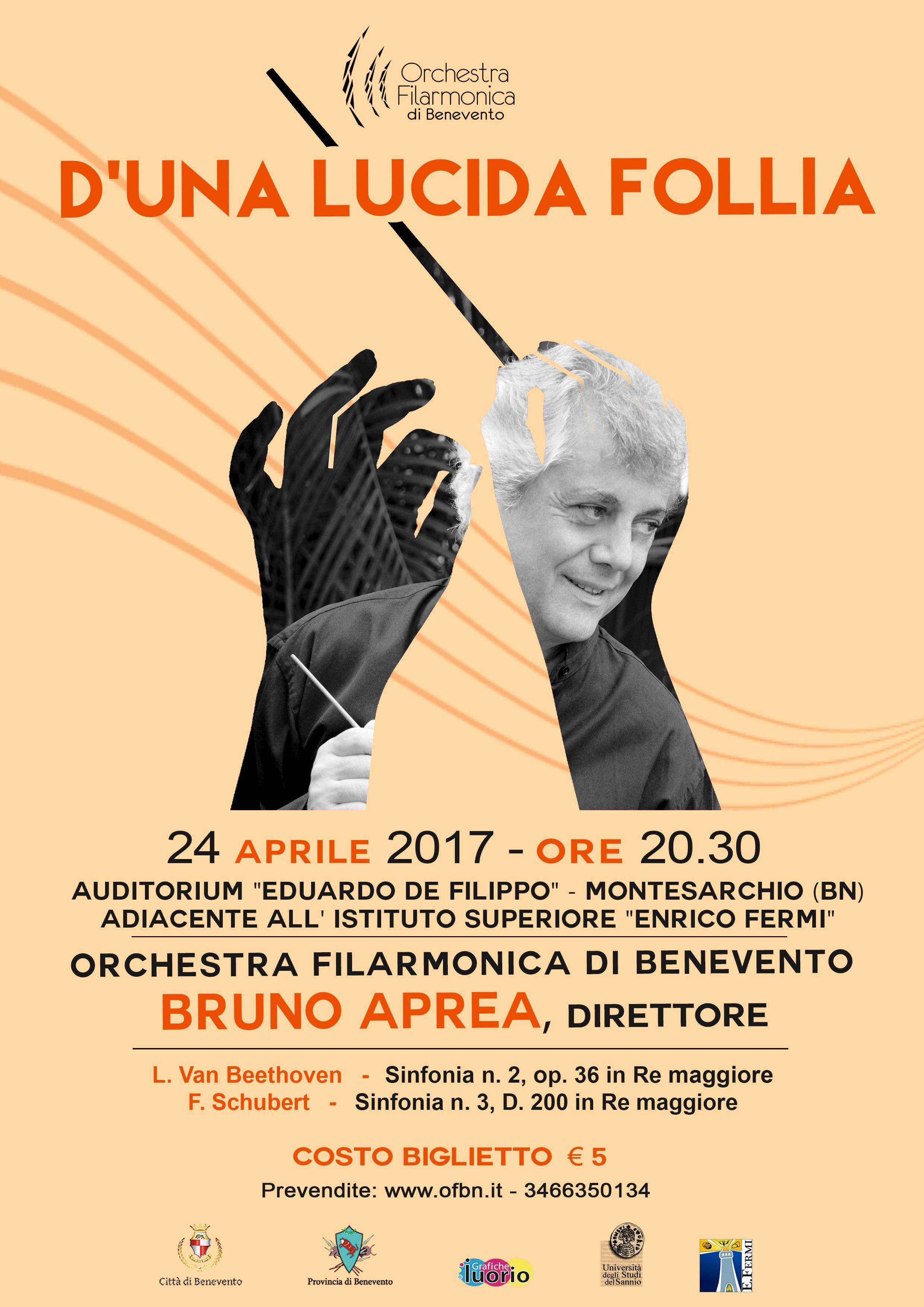 L'Orchestra Filarmonica in trasferta a Montesarchio con il concerto 'D'una lucida follia'