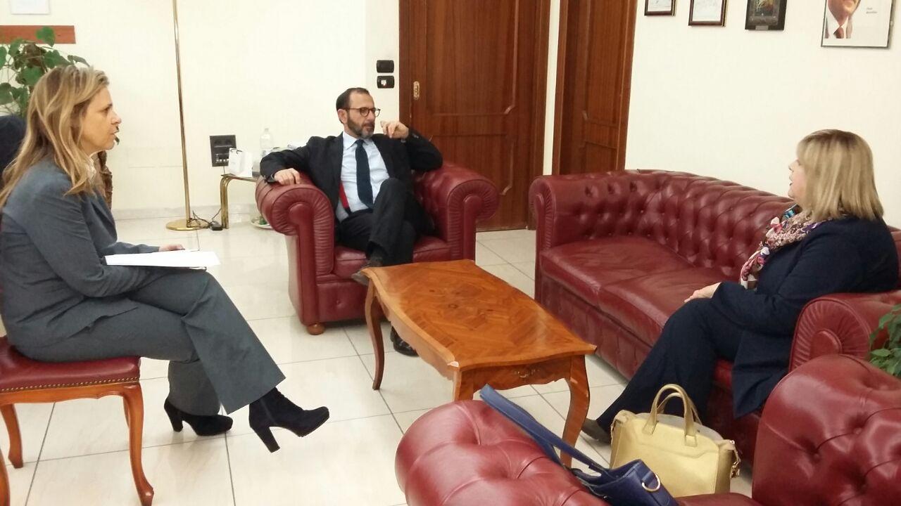 Commissione Regionale Pari Opportunità, Principe incontra il Questore Bellassai