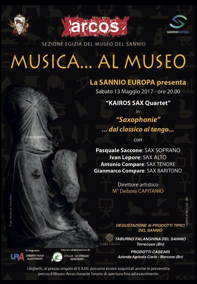 Musica all'Arcos con il Kairos Sax Quartet