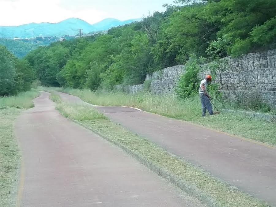 Lavori di riqualificazione e manutenzione presso la pista ciclopedonale Paesaggi Sanniti