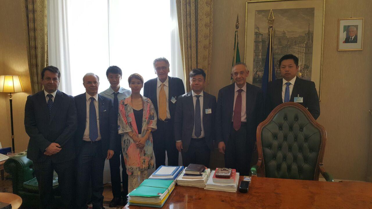 Opportunità di business presenti in Italia, Del Basso incontra la delegazione della 'China Overseas Holding'