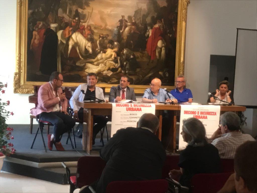 L'intervento di Bosco al dibattito su 'Decoro e sicurezza urbana'
