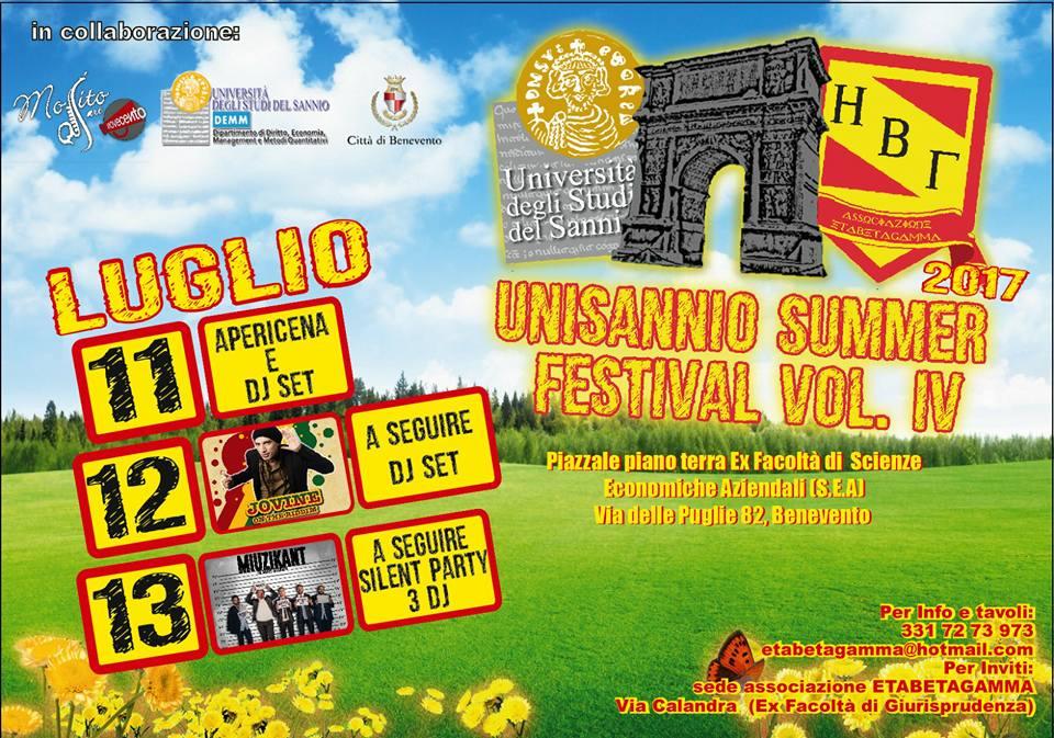 Benevento, parte domani l'Unisannio Summer Festival