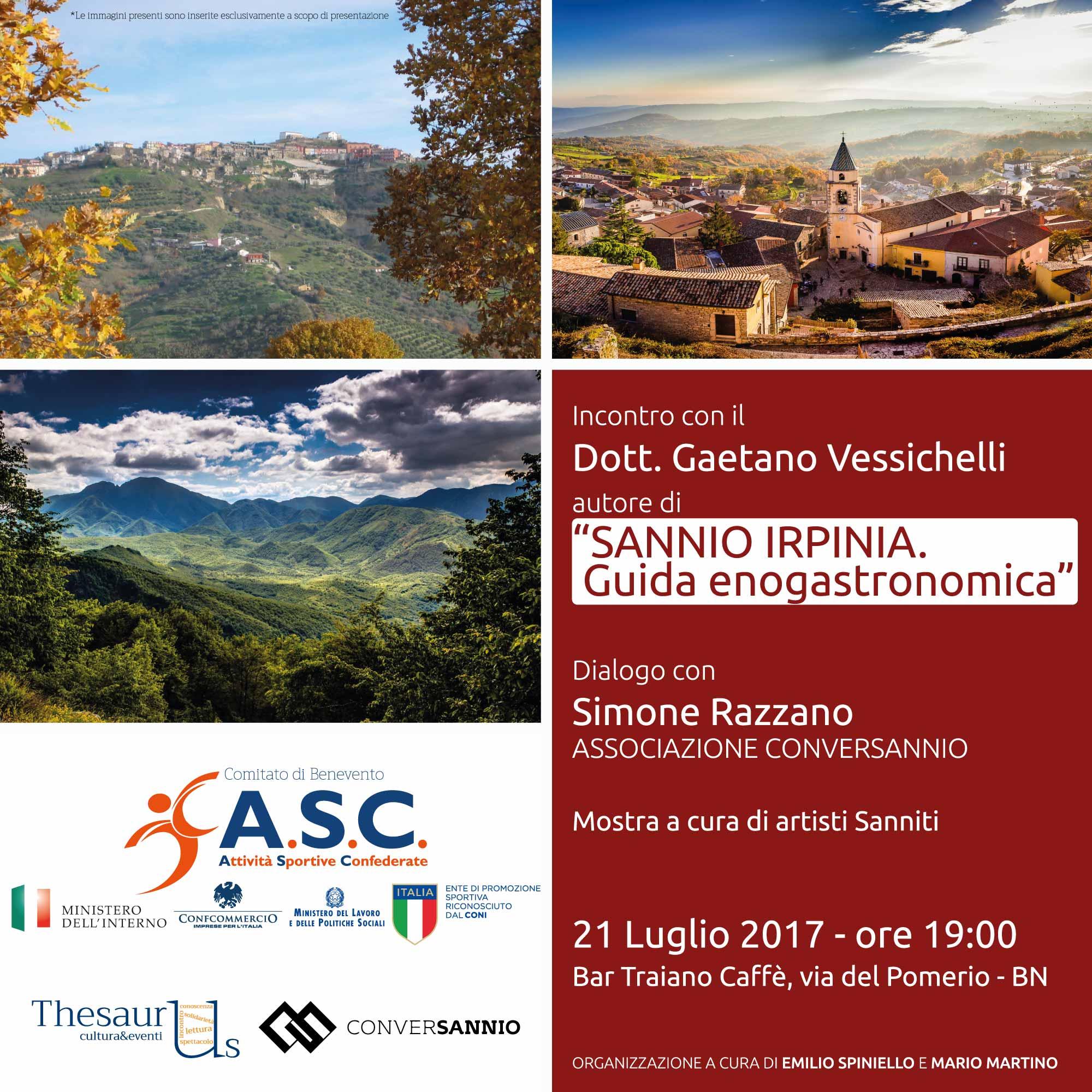 Domani presentazione della guida enogastronomica 'Sannio-Irpinia'