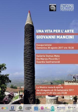 Guardia Sanframondi, domenica inaugurazione della retrospettiva dedicata a Giovanni Mancini