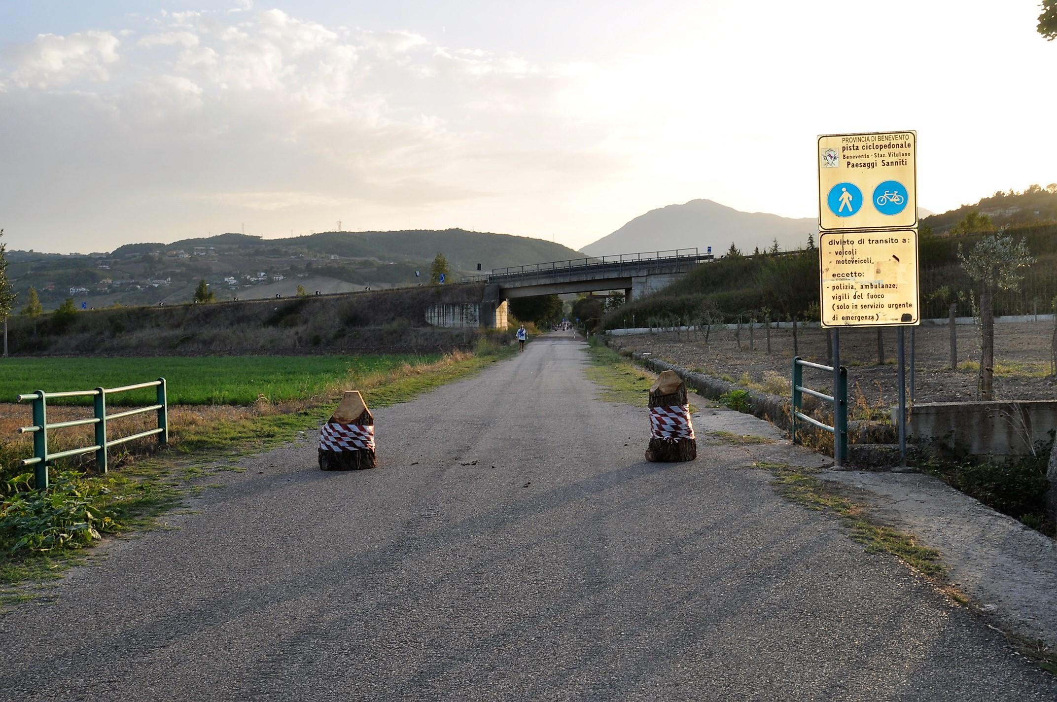 Rimosso dissuasore di transito lungo la ciclopedonale Paesaggi sanniti. Ricci: Indescrivibile indignazione