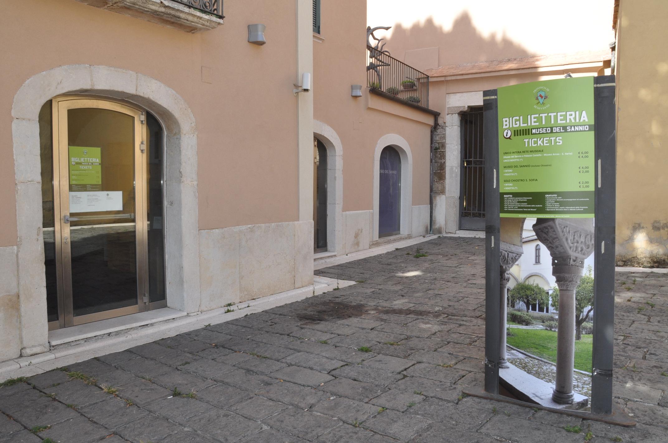 Benevento, nuova biglietteria del Museo del Sannio e del Chiostro di Santa Sofia