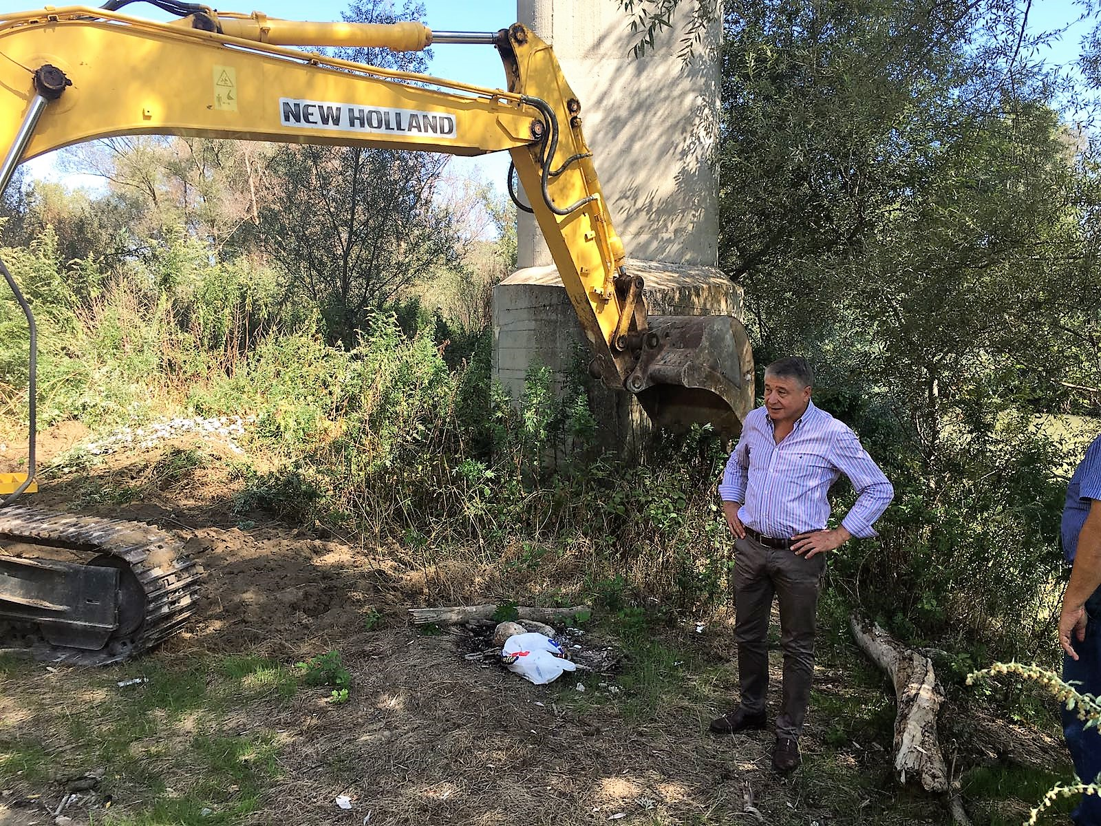Benevento, iniziati i lavori per la messa in sicurezza dell'albero fluviale in contrada Pantano