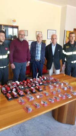Donazione della famiglia Piscitelli al Comando dei Vigili del Fuoco di Benevento