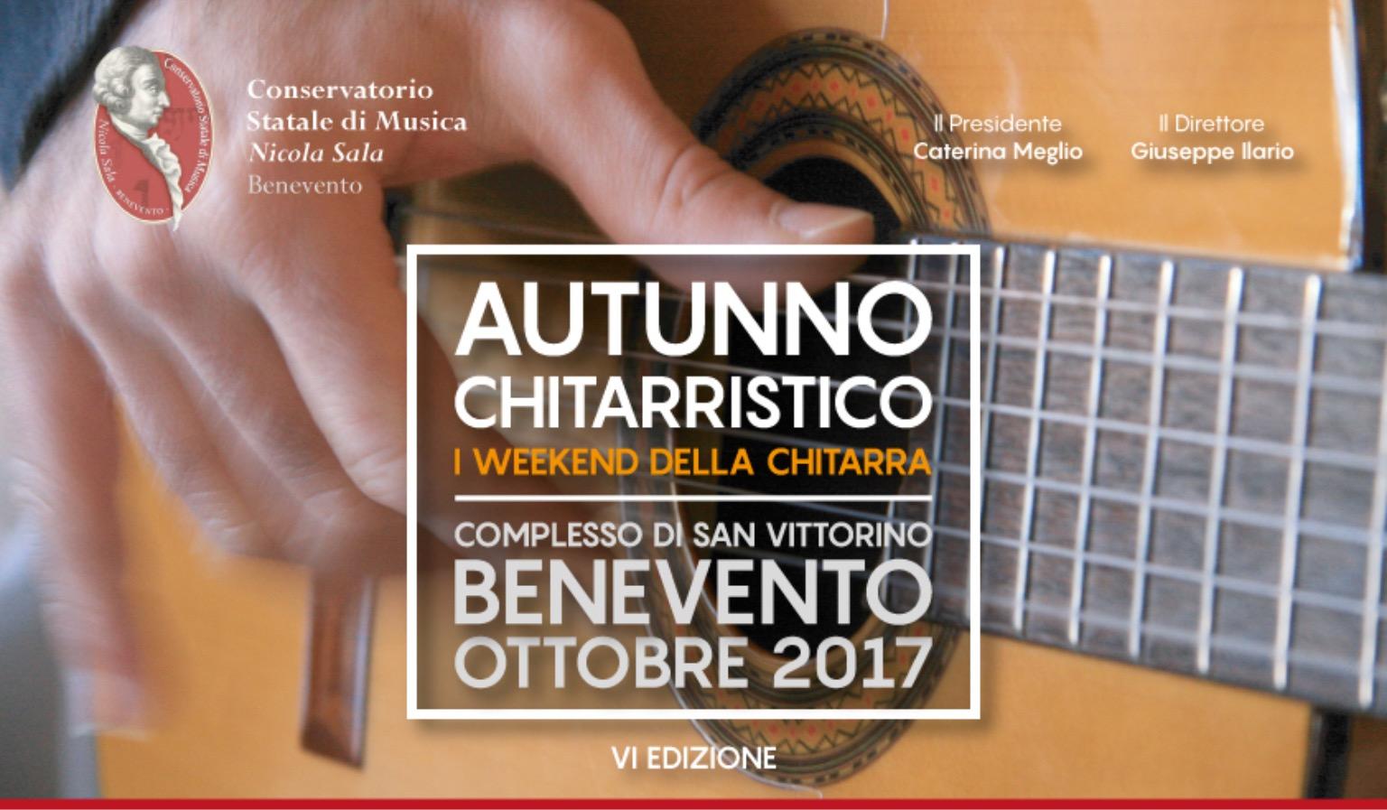 Ha preso il via la VI edizione dell'Autunno Chitarristico del Conservatorio di Benevento
