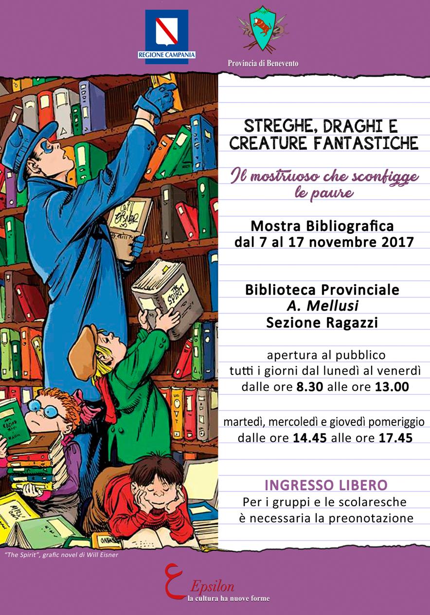 Alla biblioteca Mellusi di Benevento la mostra per ragazzi 'Streghe, Draghi e creature fantastiche'