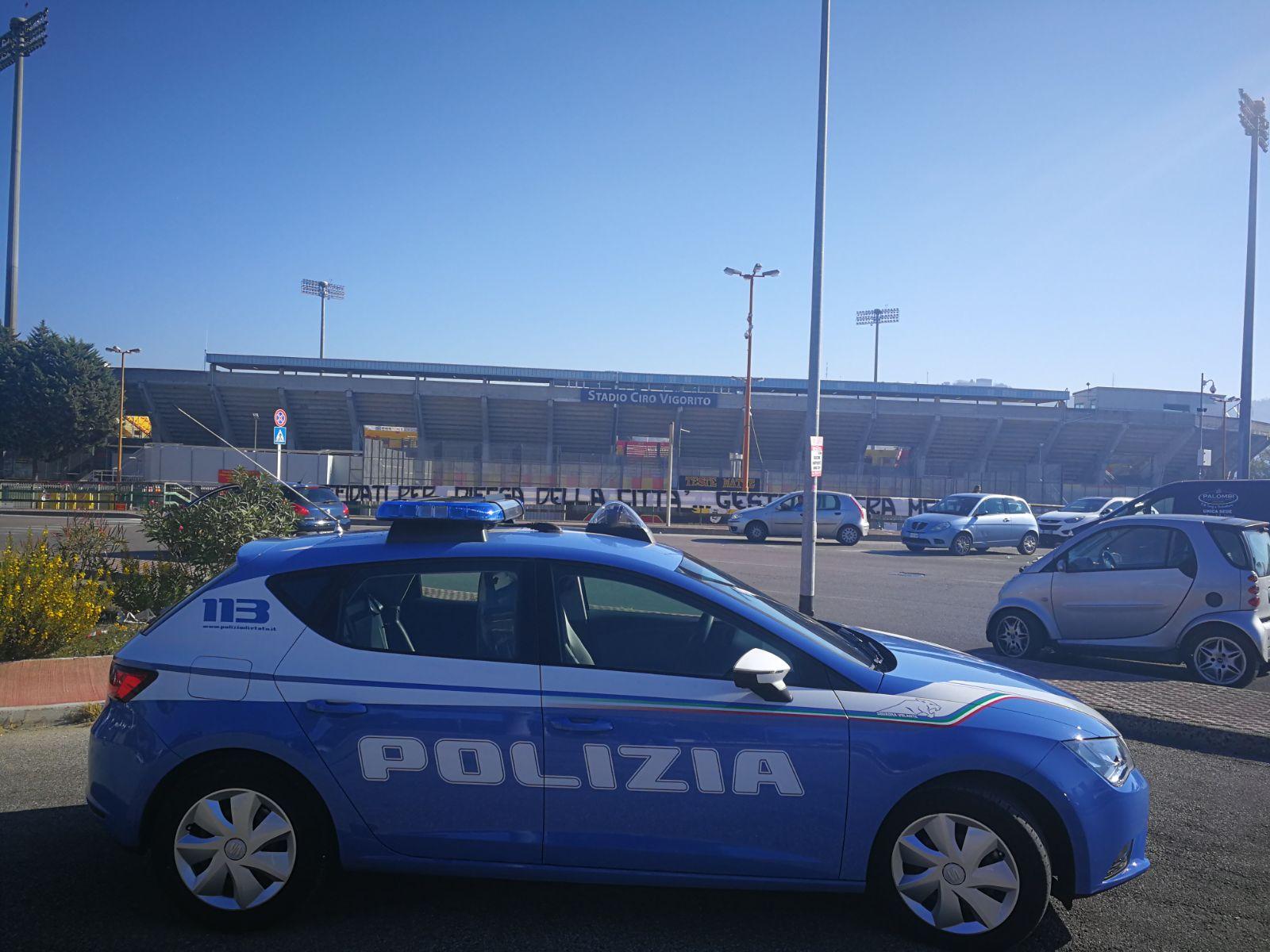 Benevento-Lazio: la Polizia di Stato irroga altri 6 daspo