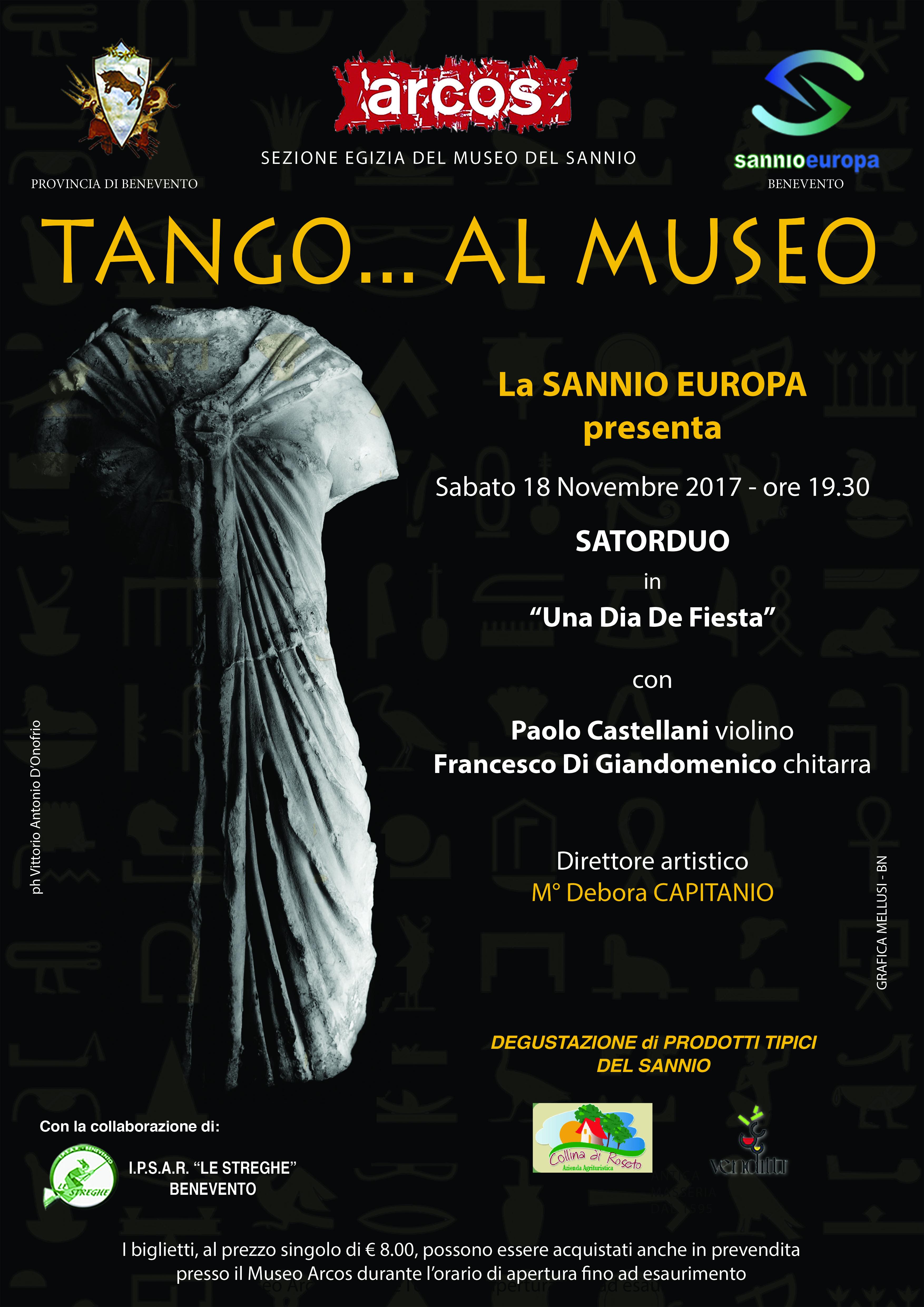 Sabato all'Arcos serata dedicata al tango con gli 'Satorduo'