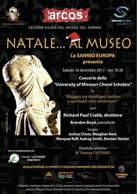 Viaggio tra madrigali italiani e spirituals afro-americani al Museo Arcos di Benevento