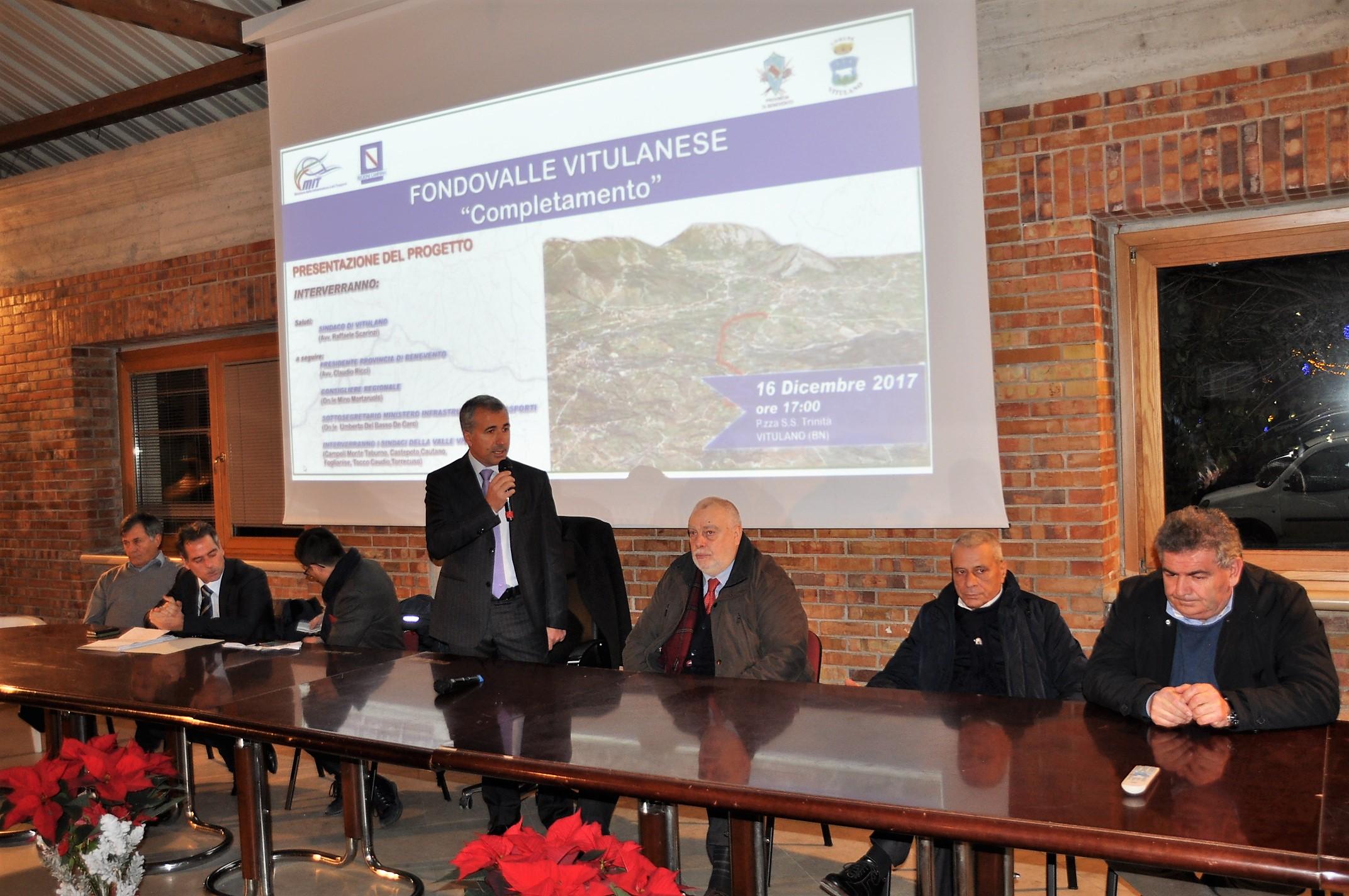 Completamento Fondo Valle Vitulanese, finanziamento di 46mln di euro