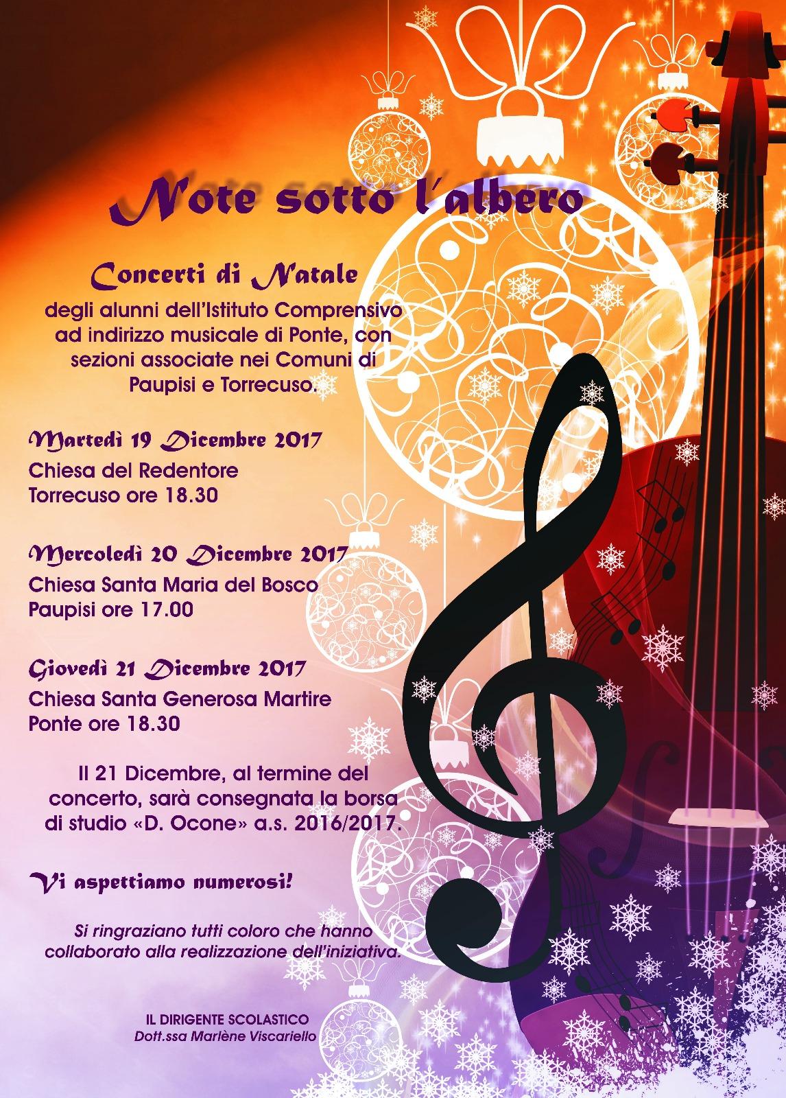 'Note sotto l'albero', concerto di Natale degli studenti dell'I.C. di Ponte