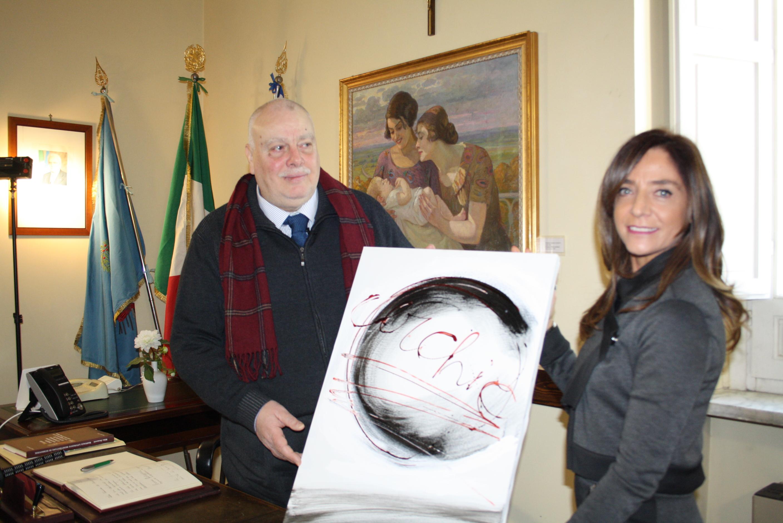 La famiglia Del Donno dona un opera del Maestro alla Provincia di Benevento