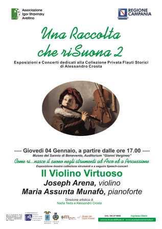 Al Museo del Sannio di Benevento mostra e concerti dedicati ai flauti storici di Alessandro Costa