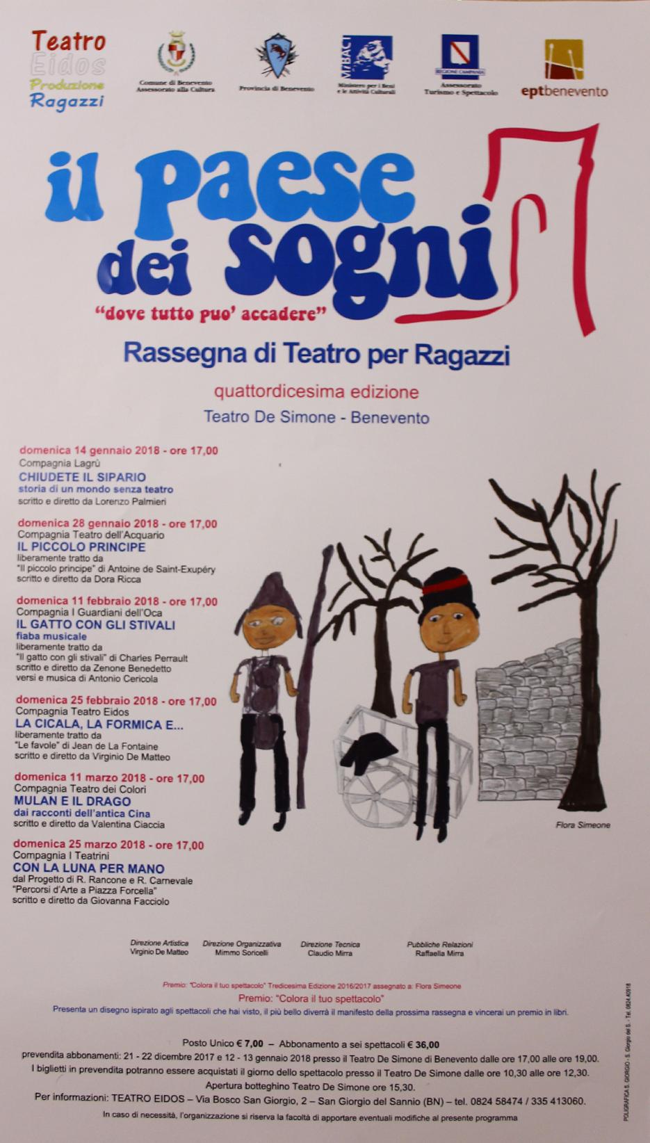 Il paese dei sogni, programma completo della rassegna teatrale al De Simone di Benevento