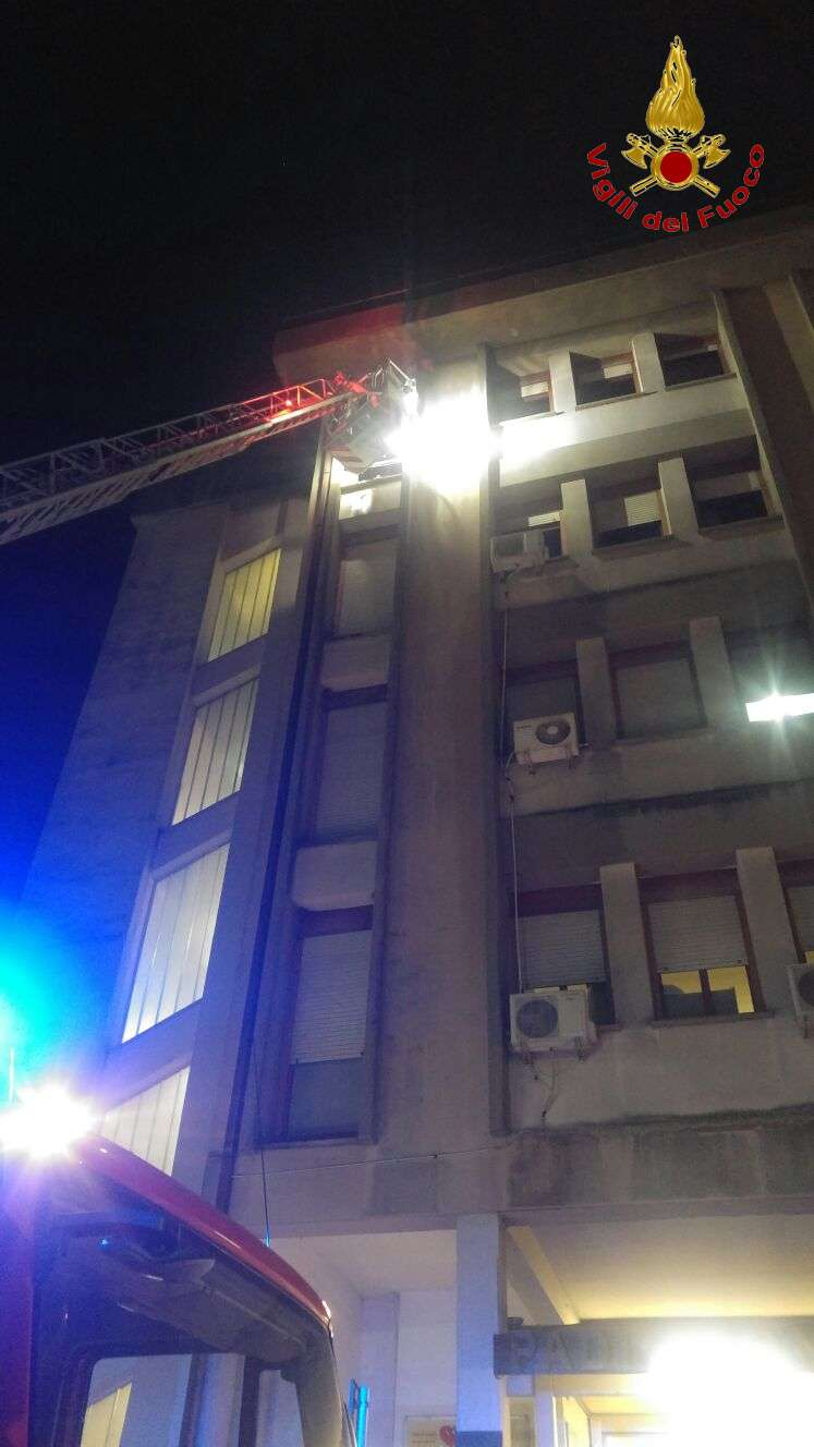 Incendio all'Ospedale Rummo di Benevento