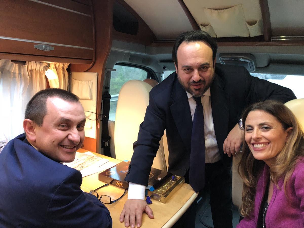 Politica, è partito il tour di Carmine Valentino con Ettore Rosato