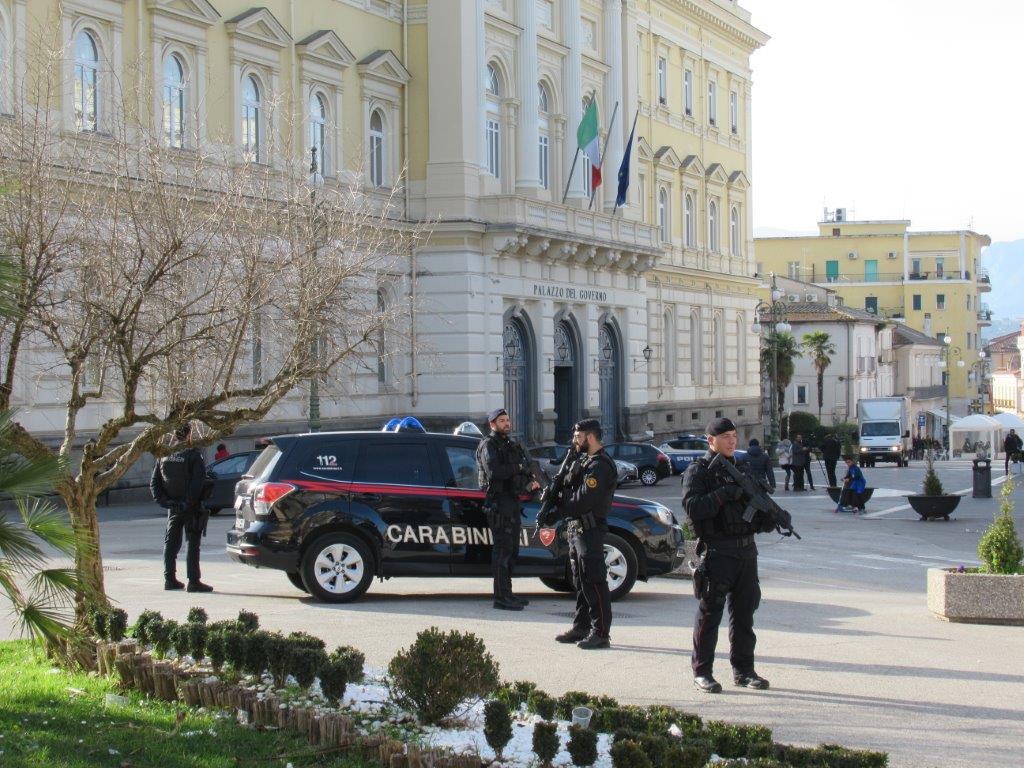 A Benevento le squadre operative di supporto antiterrorismo dei Carabinieri