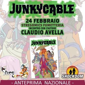 Presentazione Junky Cable anteprima nazionale ed incontro con l'autore presso la fumetteria Stregomics
