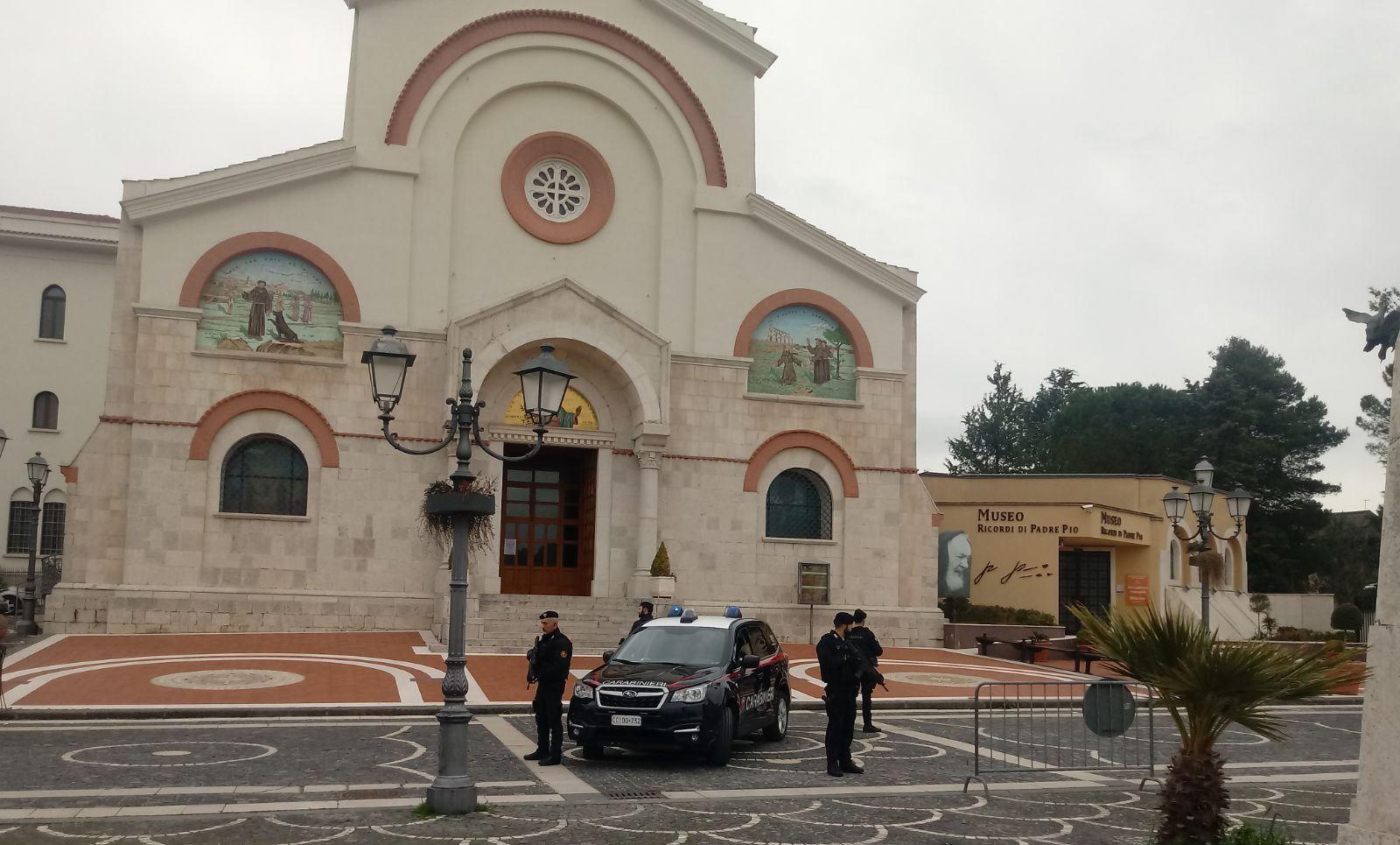 A Pietrelcina squadre operative di supporto antiterrorismo in vista della visita del Papa