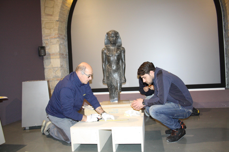 Il faraone Domiziano del Museo Arcos in viaggio verso il Paul Getty Museum di Los Angeles
