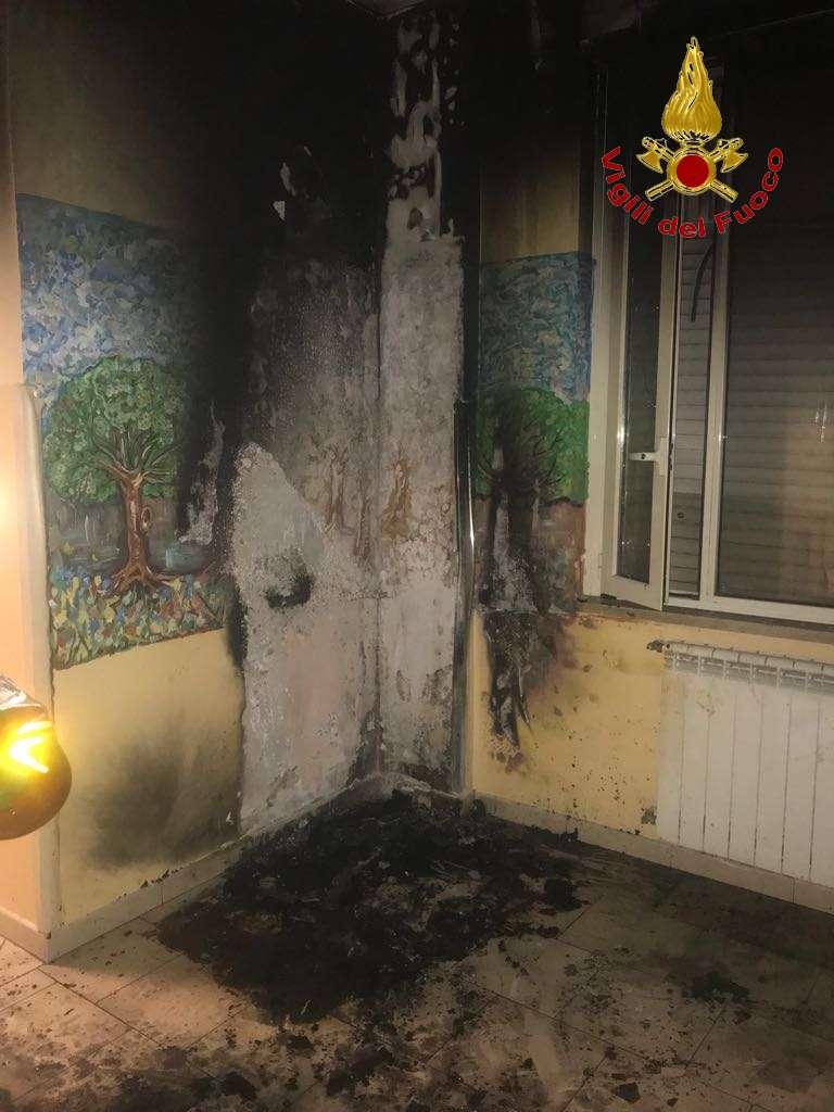 Incendio al reparto di psichiatria del Rummo di Benevento