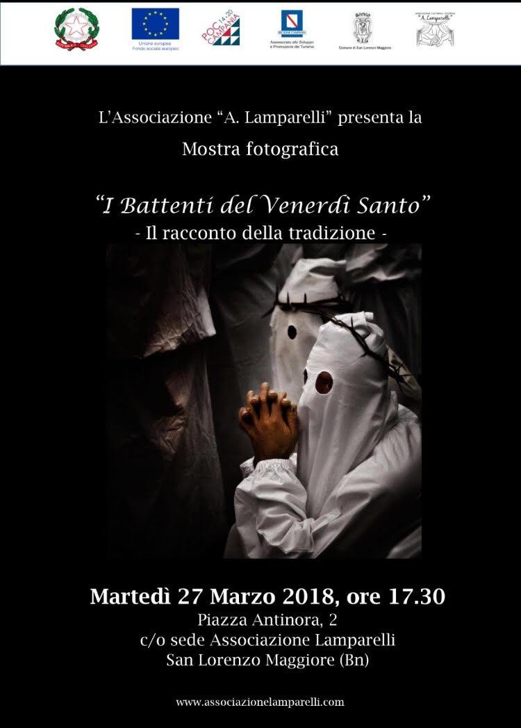 L'Associazione Lamparelli inaugura la mostra 'I Battenti del venerdì santo'