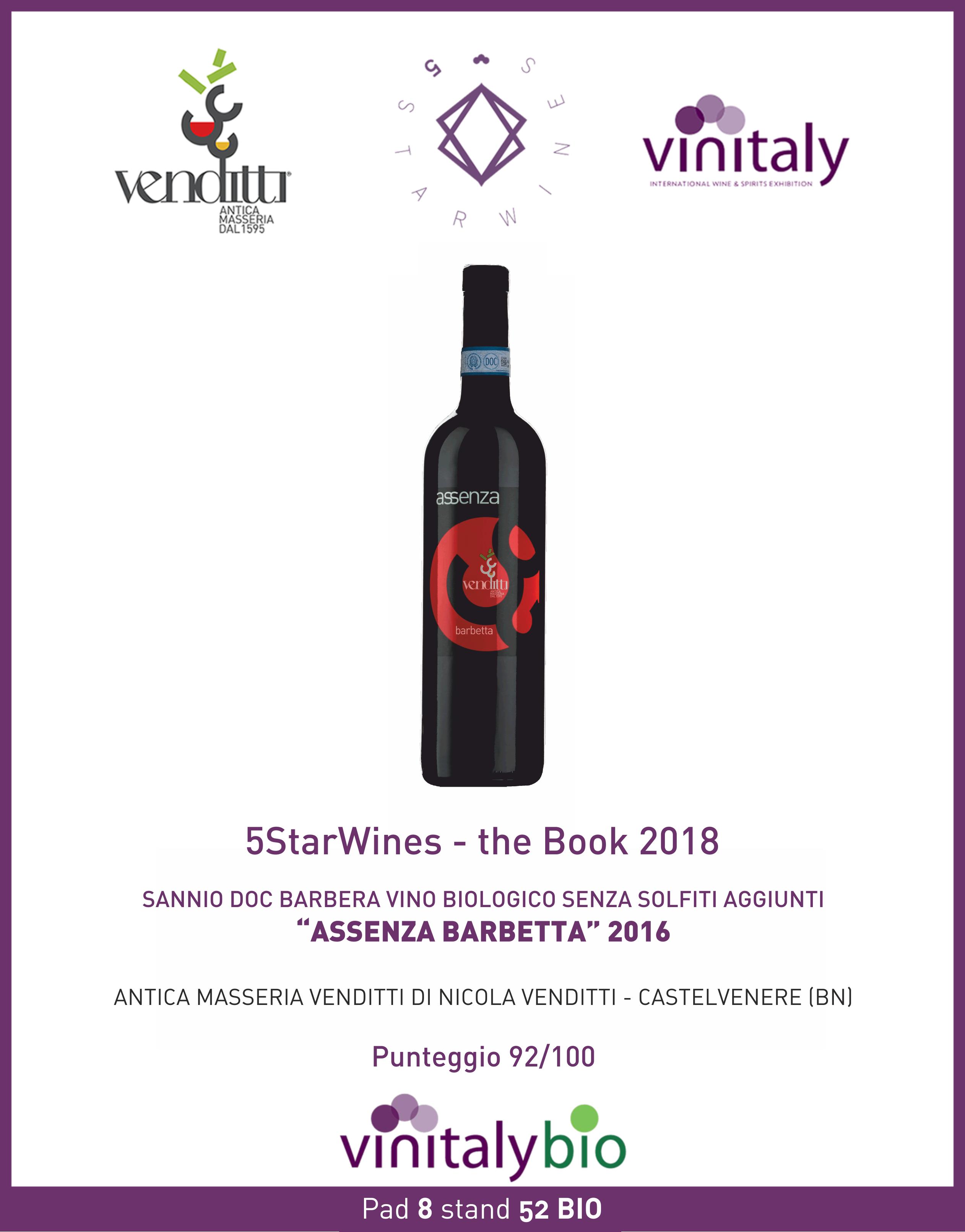 Vinitaly, grandissimo successo di Assenza Barbetta annata 2016, vino biologico e senza solfiti