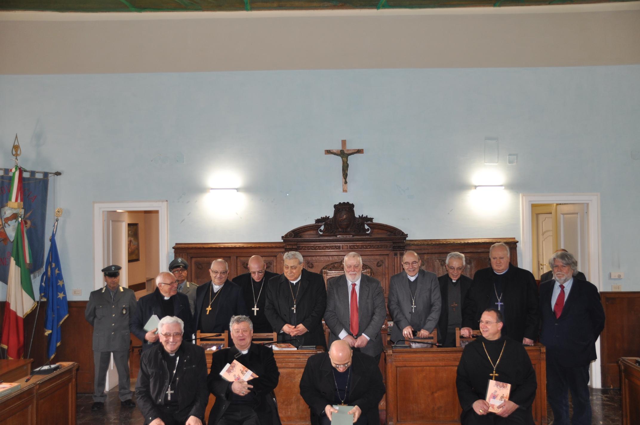 Una delegazione della Conferenza Episcopale della Campania ha visitato la Rocca dei Rettori di Benevento