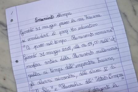 """Giovedì, presso la via Traiana, si concluderà il progetto educativo """"A spasso nel tempo… Benevento romana"""""""