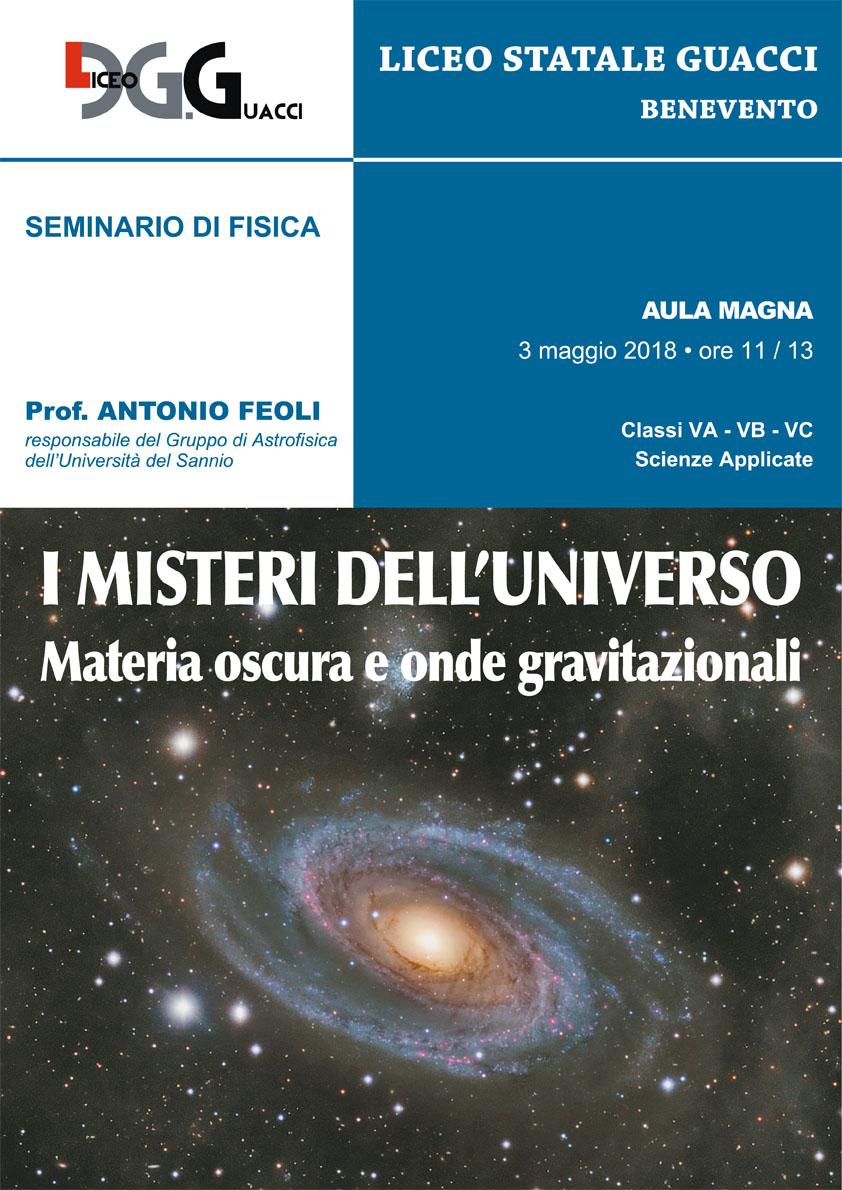 Convegno al Guacci di Benevento su materia oscura e onde gravitazionali