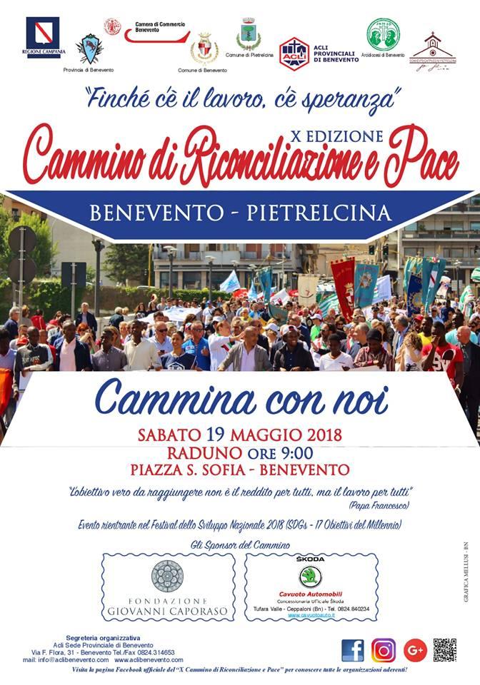 X Cammino di Riconciliazione e Pace verso Pietrelcina. Partenza sabato da Benevento