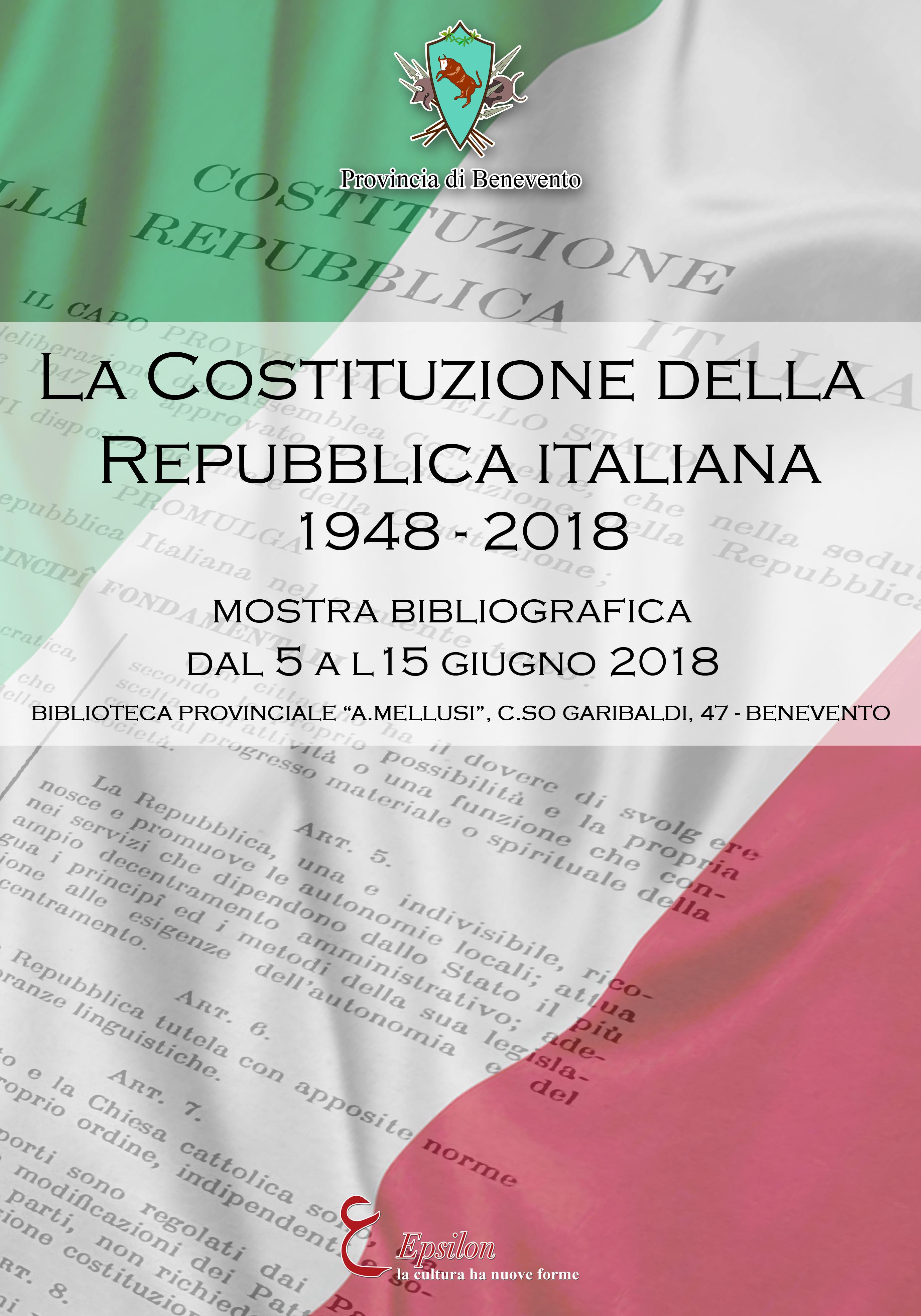 La Costituzione italiana in mostra alla Biblioteca Mellusi di Benevento