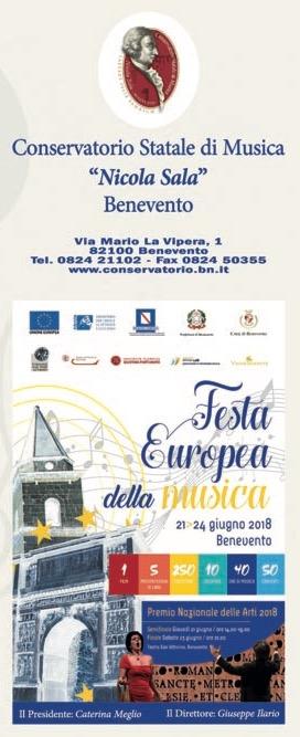 Tutto pronto per la Festa Europea della Musica 2018 in programma dal 21 al 24 giugno