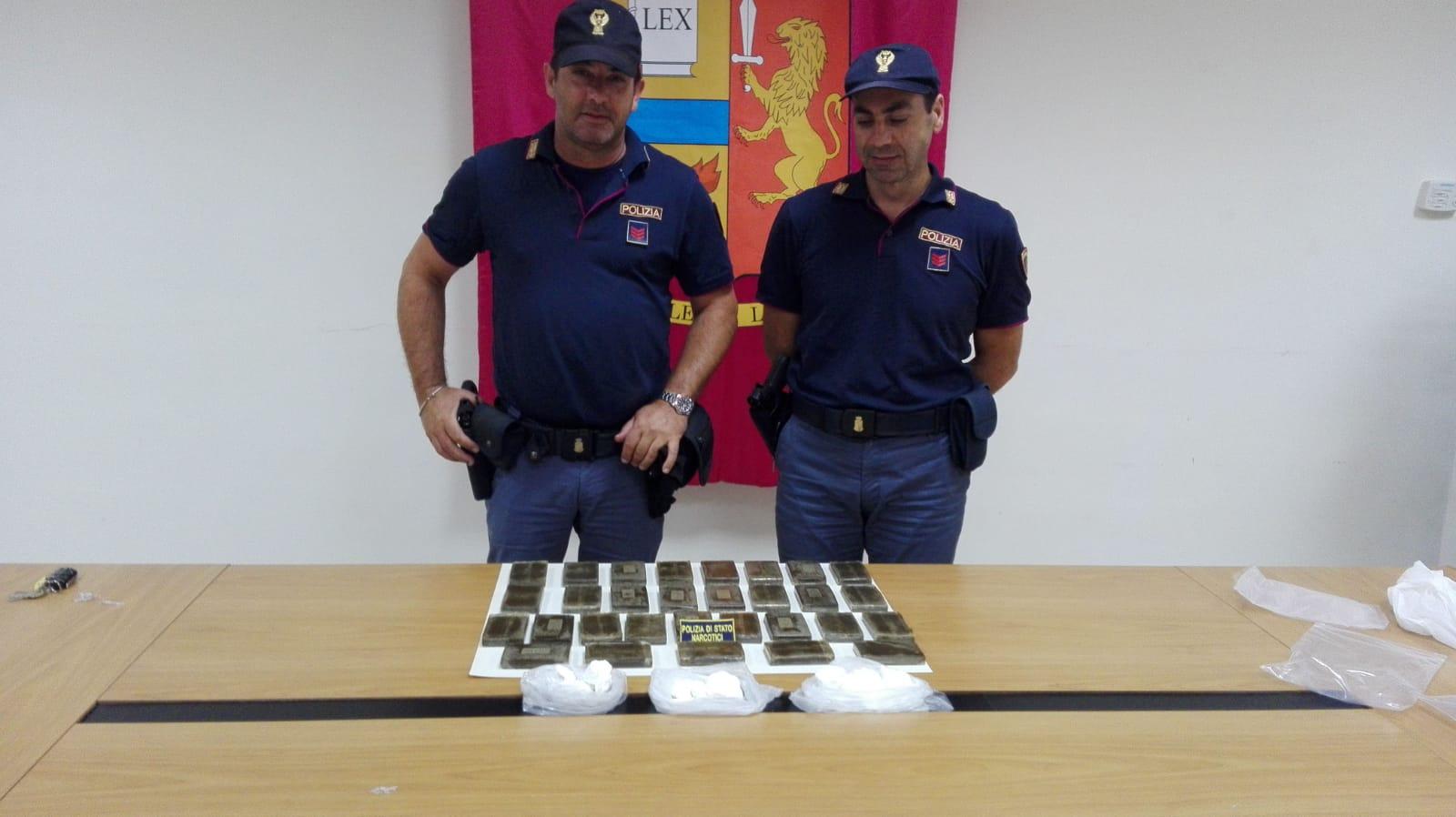 Benevento: arrestati dalla Polizia mandante e corriere della droga