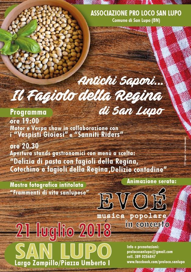 """San Lupo si prepara a celebrare il """"Fagiolo della Regina"""""""