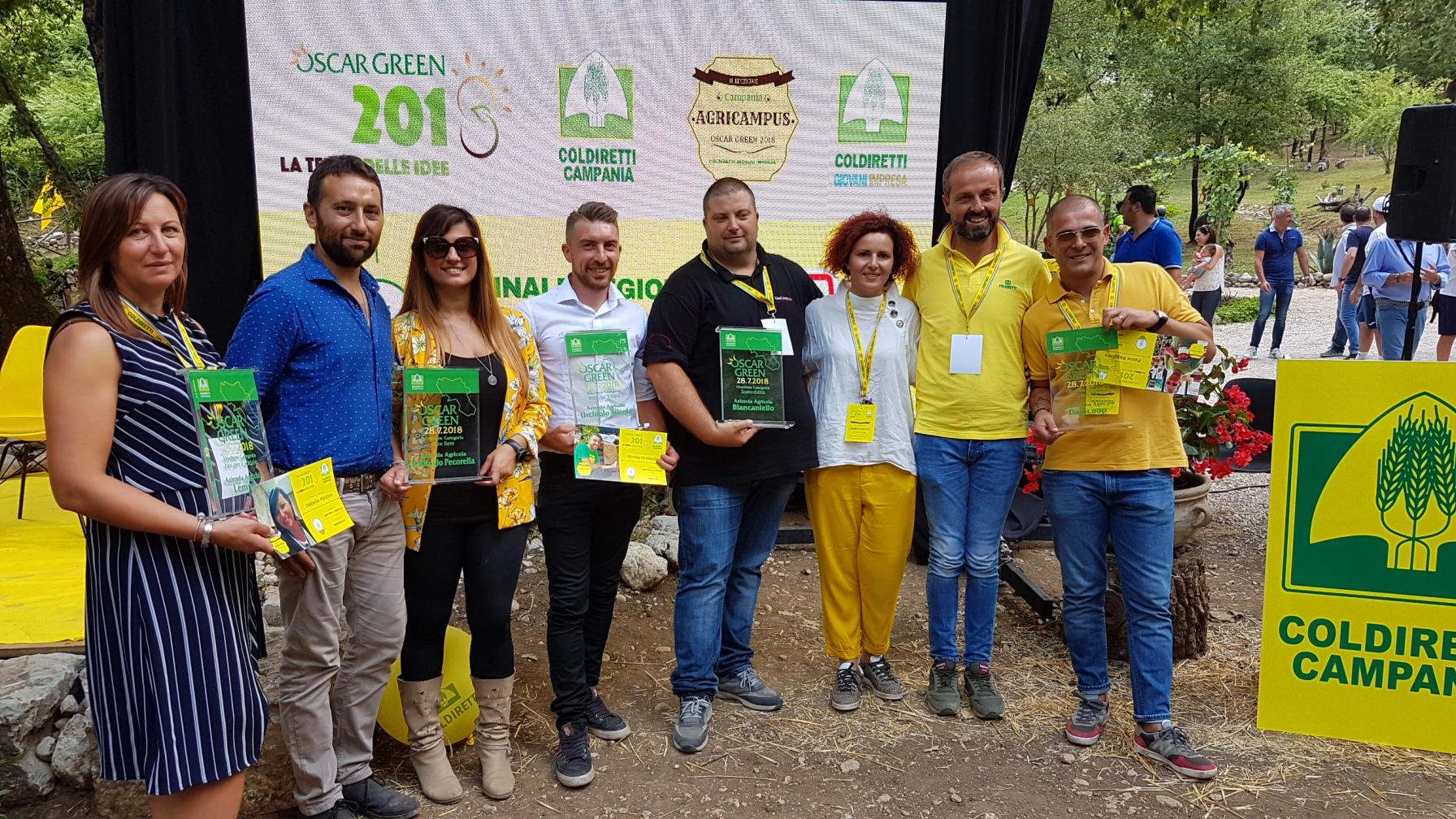 Oscar Green, sei premi ai giovani agricoltori della Campania