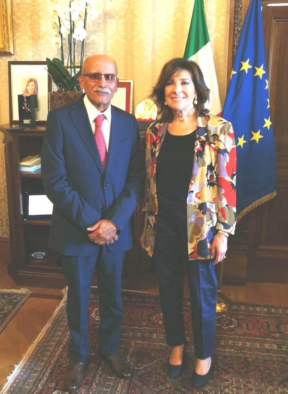 Nell'incontro con Casellati il sindaco di Castelvenere ha sostenuto le candidature del Sannio a 'Città europea del vino 2019'