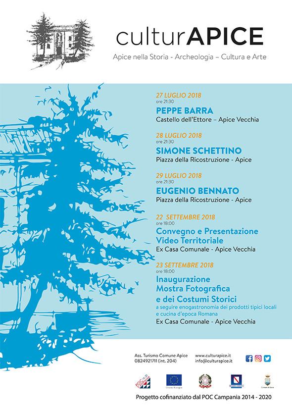 Apice, al via venerdì la kermesse 'CulturApice'. In cartellone 5 eventi di elevato profilo artistico e culturale