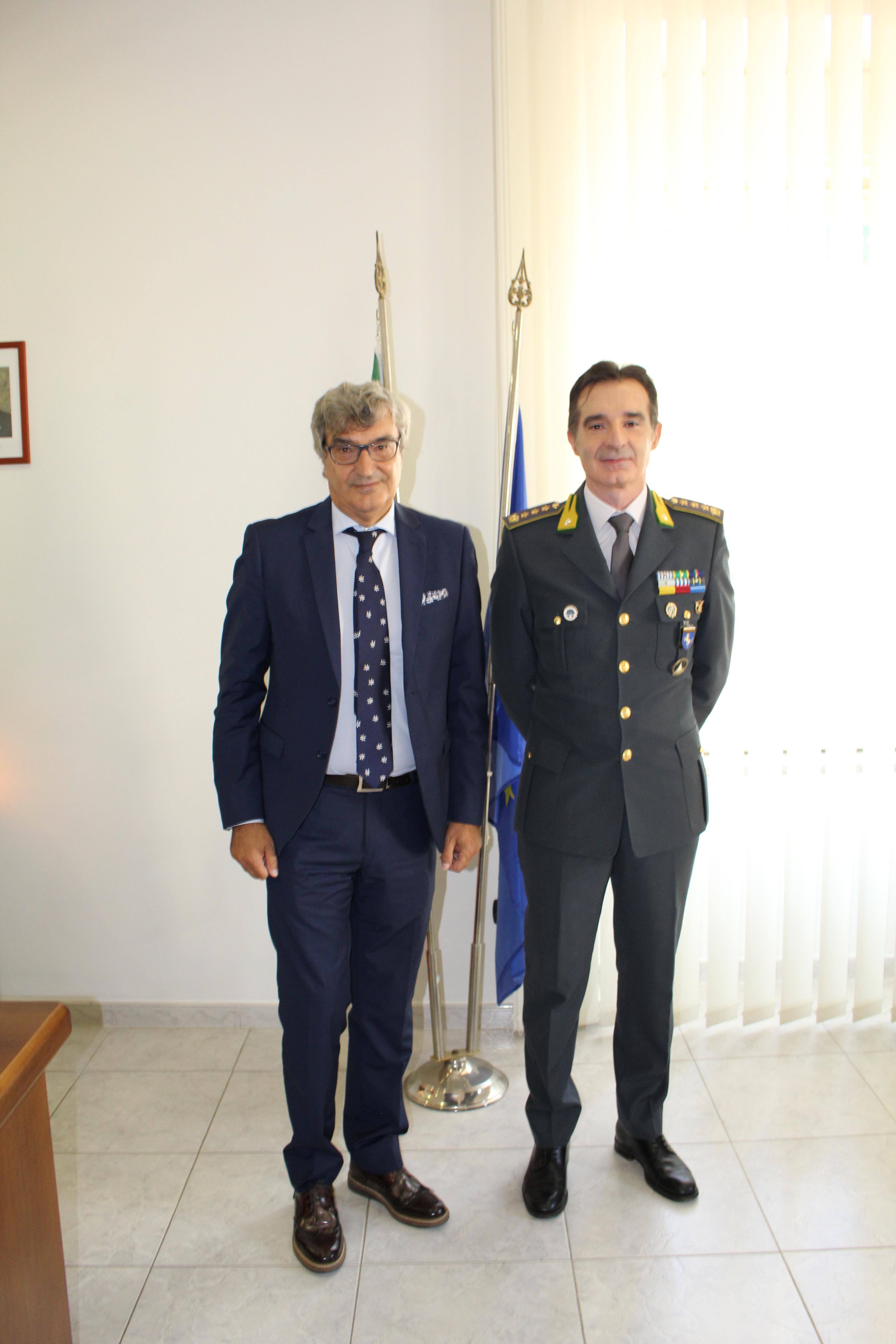 Visita del Prefetto di Benevento al Comando Provinciale della Guardia di Finanza e alla Questura