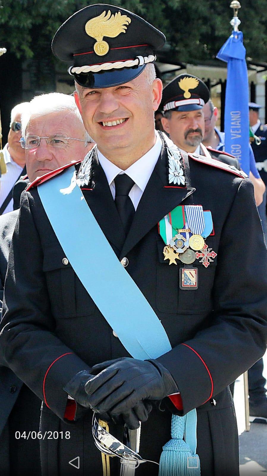 Il Maggiore dei Carabinieri Sabato D'Amico lascia il Sannio