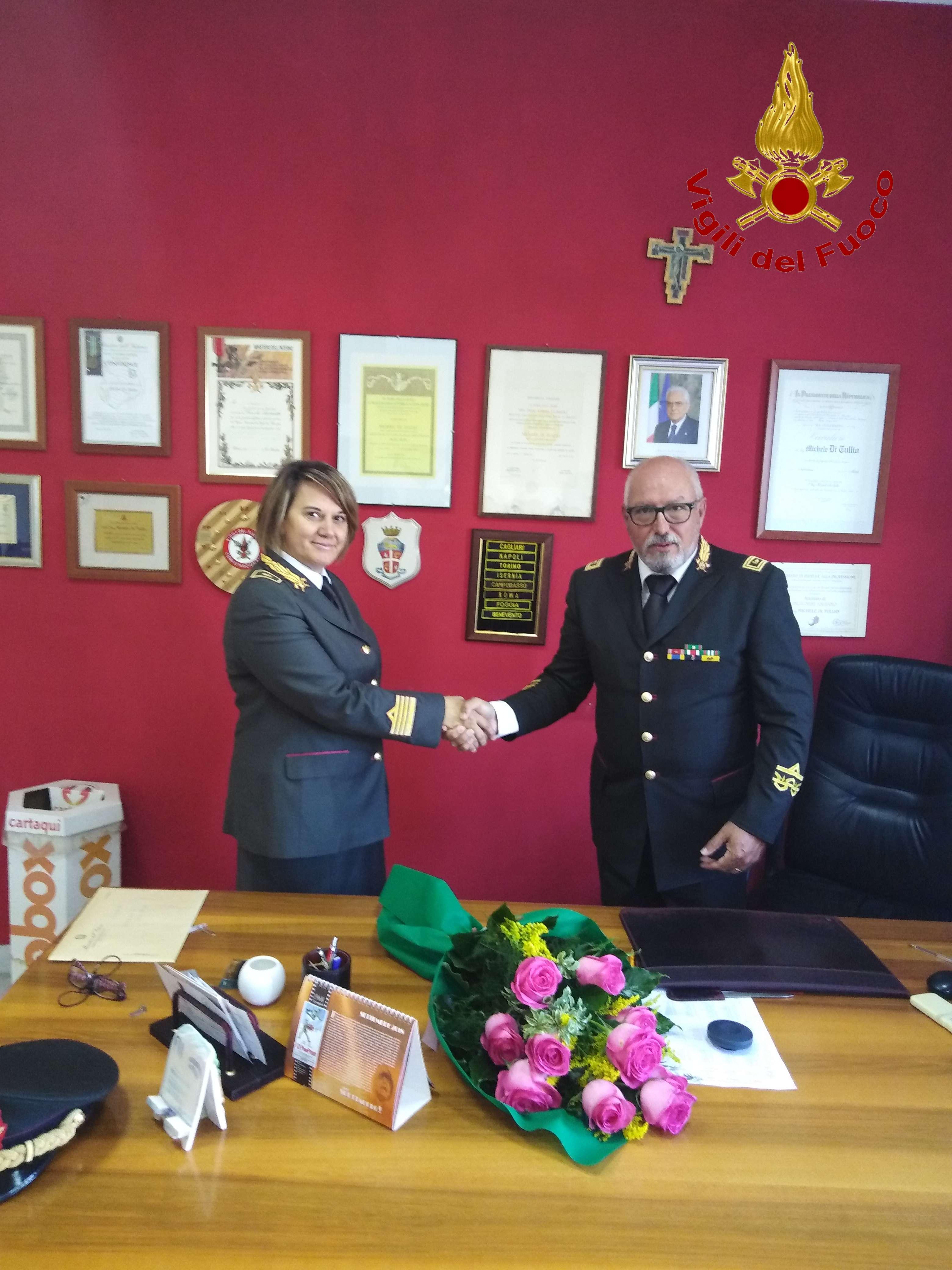Vigili del Fuoco, passaggio di consegne tra Michele di Tullio e il nuovo comandante D'Agostino
