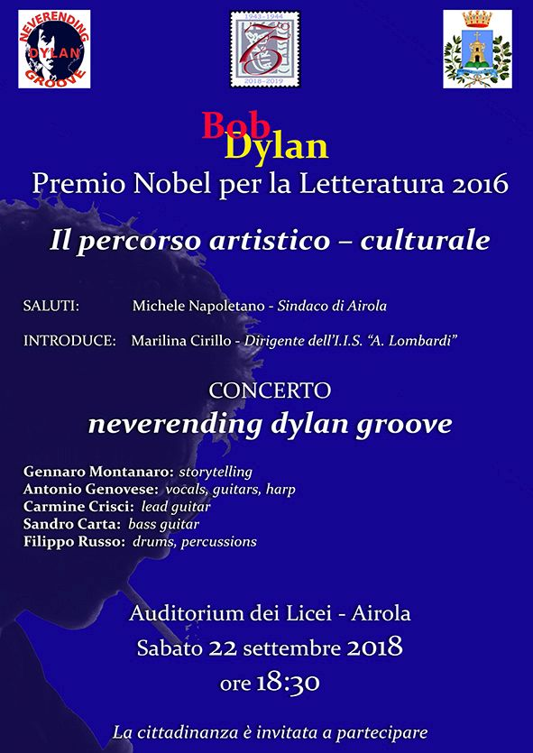 Sabato, al Lombardi di Airola, Neverending Dylan Groove in concerto tributo a Bob Dylan