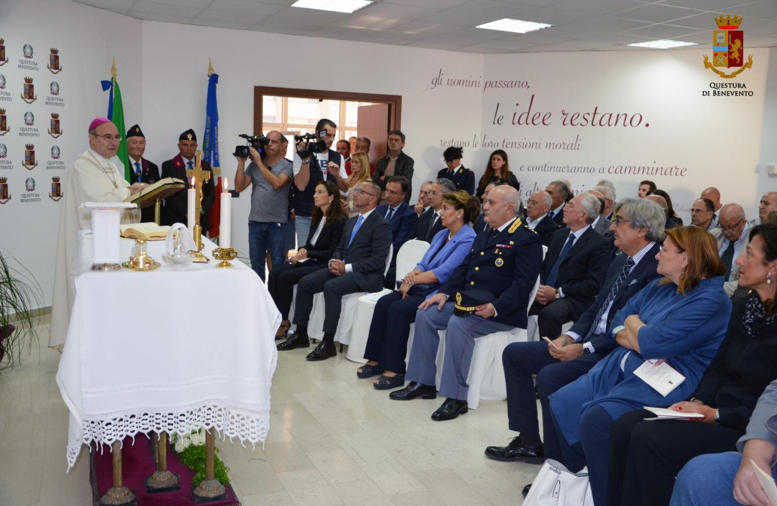 Inaugurata la sala conferenze della Questura di Benevento nella Festa del patrono San Michele