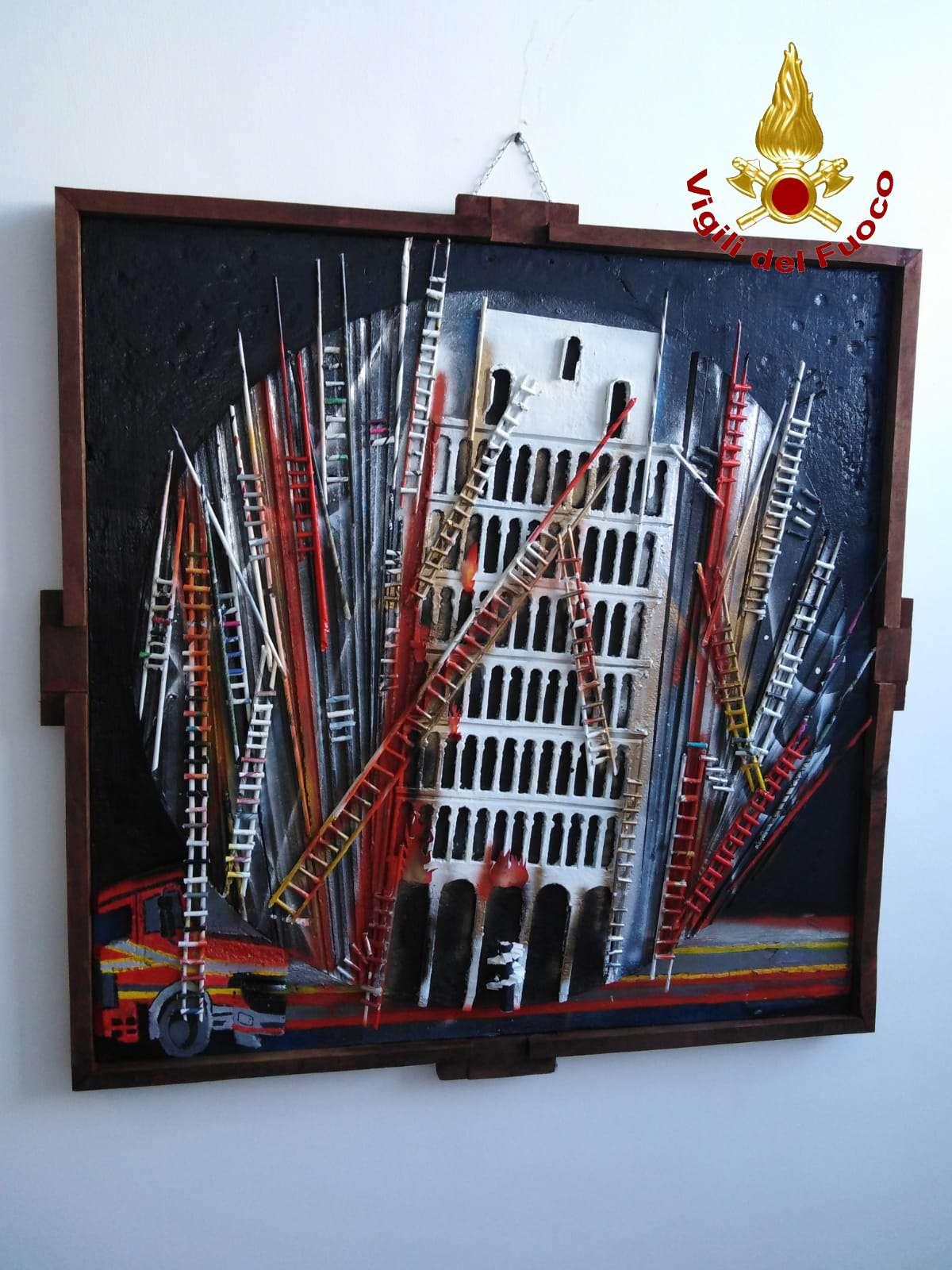 La caserma dei Vigili del Fuoco di Benevento diventa galleria d'arte per i giovani artisti del Liceo Virgilio