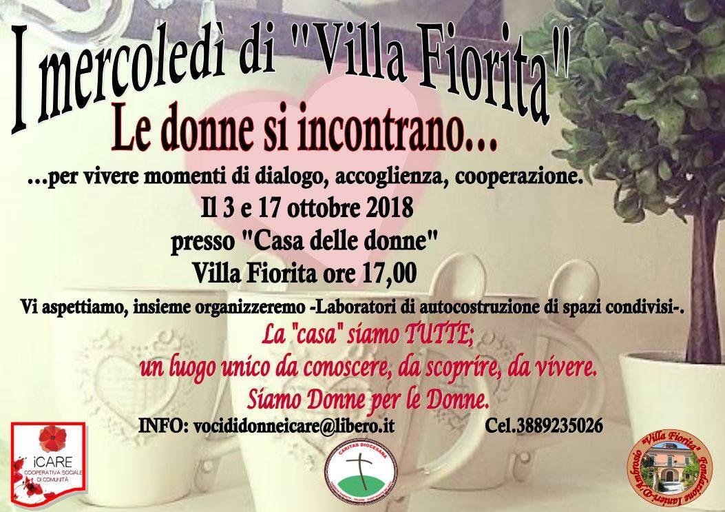 Casa delle Donne, al via 'I mercoledì di Villa Fiorita' a Sant'Agata de' Goti